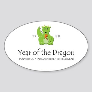 """""""Year of the Dragon"""" [1988] Oval Sticker"""